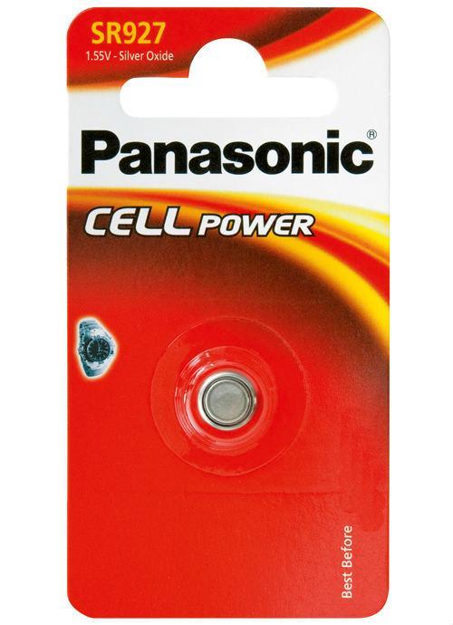 Microbatterie all'ossido d'argento SR927 - SR-927EL/1B   Blister da 1 microbatteria a bottone Panasonic