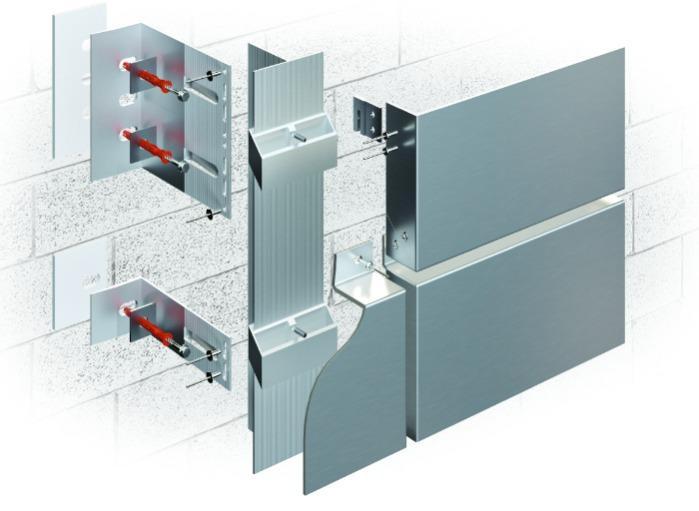 Subestructuras de fachada  - Sistema de fijación de paneles del material composito
