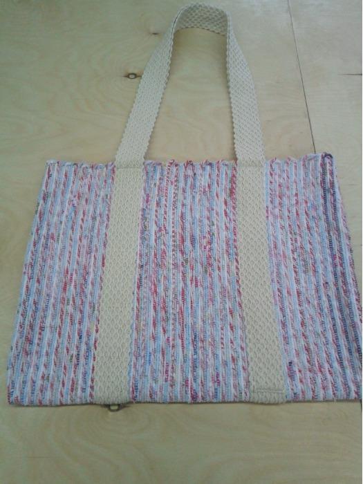 Handwoven rag  shopper  - Handwoven rag  shopper  made of 100% cotton