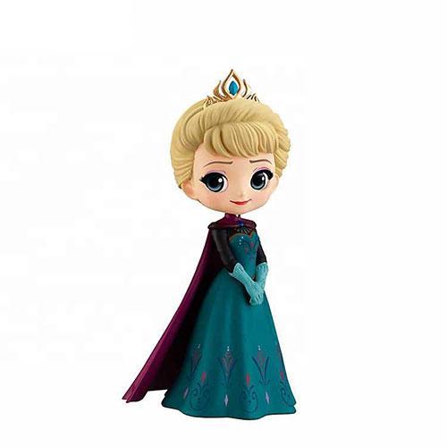 Custom Beautiful Fairy Cartoon Female Action plastic Figure Frozen Elsa - Plastic Figure Toy