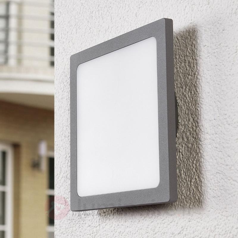 Plafonnier LED gris argenté pour l'extérieur - null