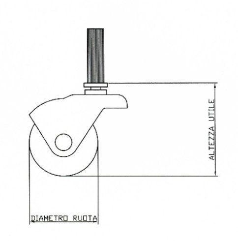 Ruote sferiche supporto lamiera - Ruote per arredamento