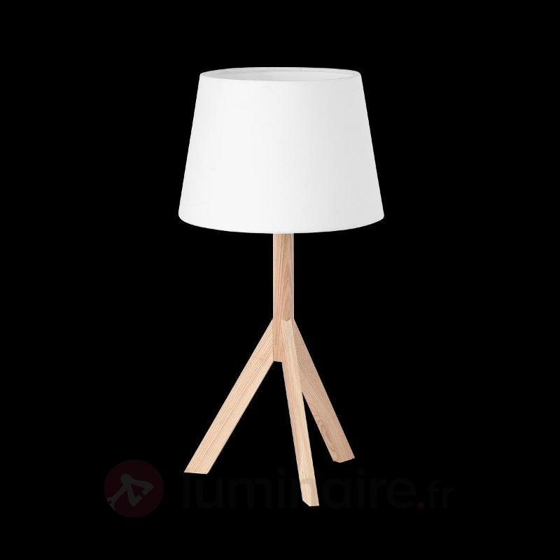 Lampe à poser Hat sur trépied - Lampes à poser en bois