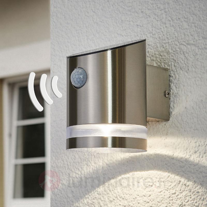 Applique solaire en inox Romina avec LED - Lampes solaires avec détecteur