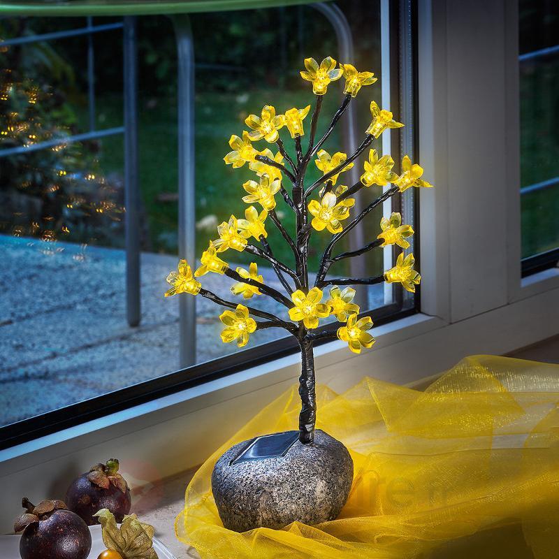 Bouquet de fleurs avec éclairage LED, solaire - Lampes décoratives d'extérieur