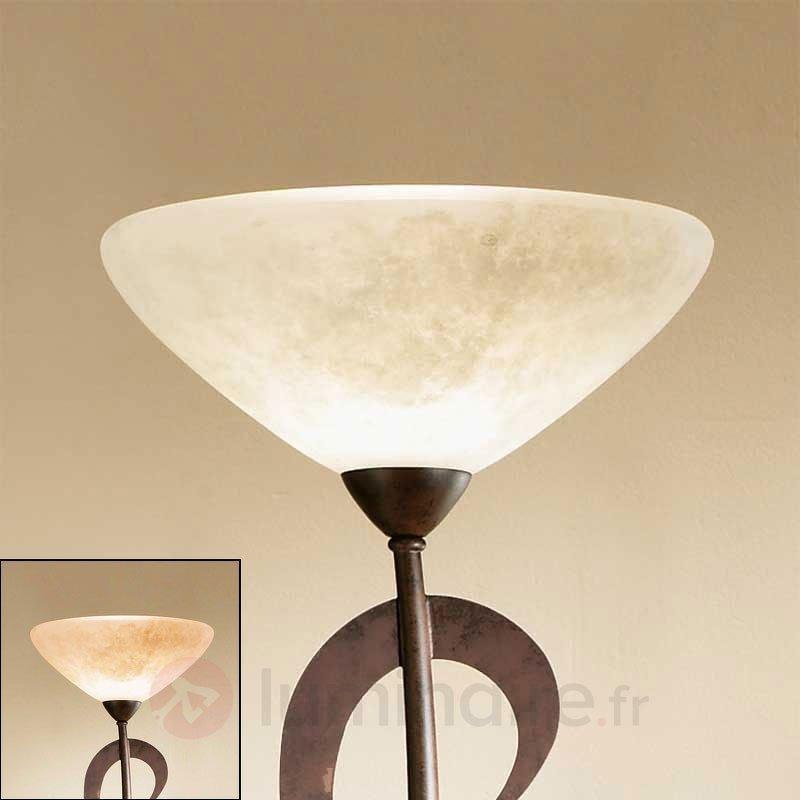 Lampadaire rustique à éclairage indirect Samuele - Lampadaires à éclairage indirect
