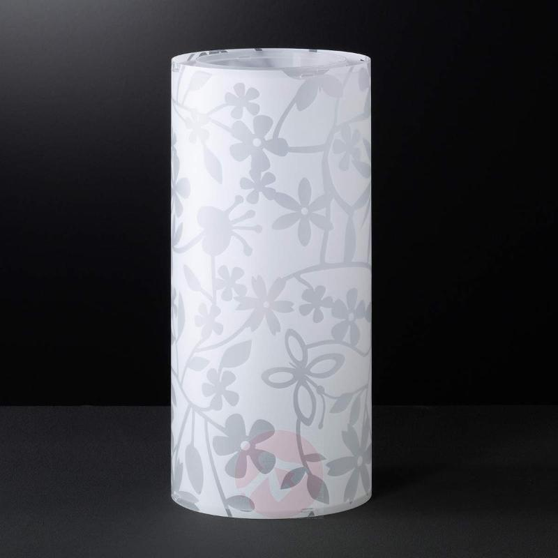 Florenz table lamp in white with floral pattern - Bedside Lamps