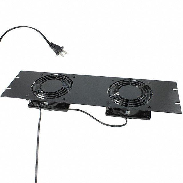 FAN TOP W/2 115VAC BLACK - Hammond Manufacturing PPGPFPA