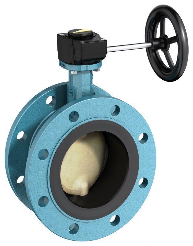 Válvula de cierre y control tipo F012-A - Válvula de doble brida con revestimiento vulcanizado adecuada.