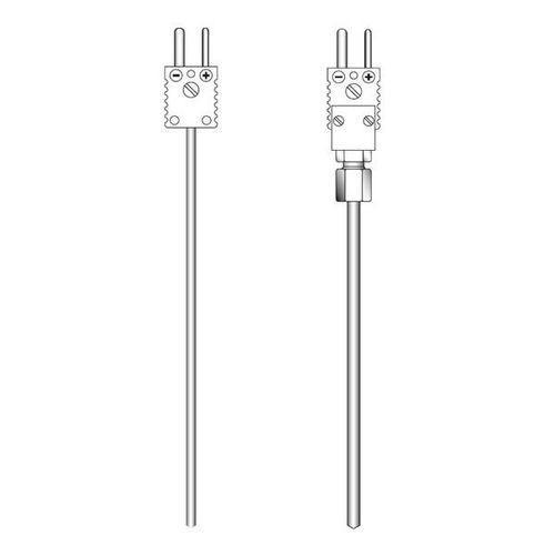 OPTITEMP TCA-M60 - Sensor de temperatura de termopar / enchufable