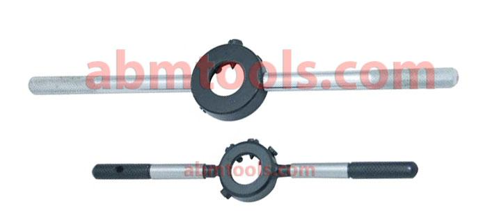 Round Die Stock Handles - MS - For holding round dies, one handle can be unscrewed