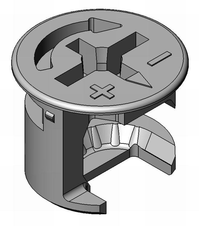Exzenter Standard I - Zamak - 12mm - PZ2 - m.R. - blank - Exzenter Zn 12 mm