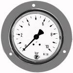 Standard pressure gauge, front ring, G 1/4, 0 - 40 bar, 63 - Standard pressure gauge with chrome-plated sheet-steel bezel, single scale...