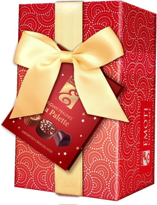 EMOTI Red Ballotin Assorted Chocolates, Gift packed 190g.  -