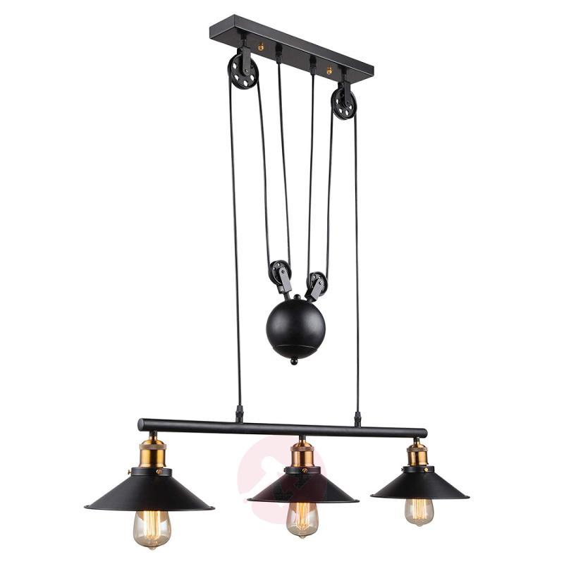 3-bulb pendant light Viktor - height-adjustable - indoor-lighting