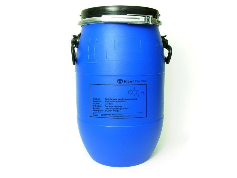 Diethylpropion HCl (1% L-tartaric acid) - Diethylpropion HCl (1% L-tartaric acid); Active Pharmaceutical Ingredient