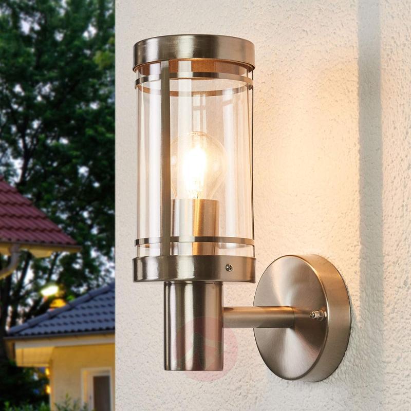 Stainless steel outdoor wall light Djori - stainless-steel-outdoor-wall-lights