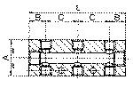 Distributor strip, Outlets both sides, Input 2x1/8,... - Distributor block, outlets on both sides (front and back)