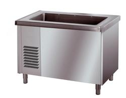 Self Service counters and Service trolleys - REFRIGERATED TANK ON OPEN CABINET 3XGN1/1
