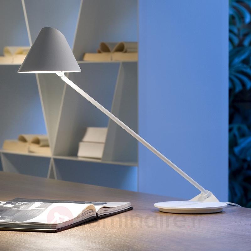 Lampe à poser LED Ginga basse consommation blanche - Lampes de bureau LED