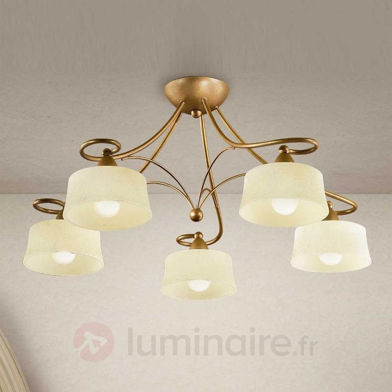 Plafonnier Alessio à 5 lampes - Plafonniers classiques, antiques