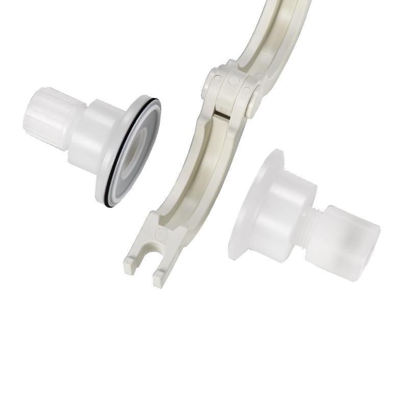 Raccord Tri-Clamp 3C - Jonction rapide par pince en inox ou en plastique