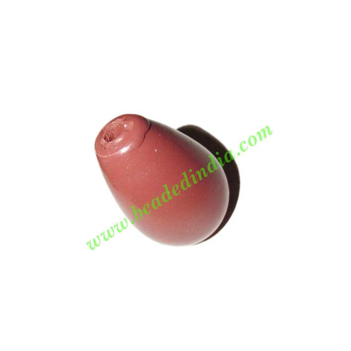 Wooden Dyed Beads, painted in one color, size 16x22mm, weigh - Wooden Dyed Beads, painted in one color, size 16x22mm, weight approx 2.13 grams