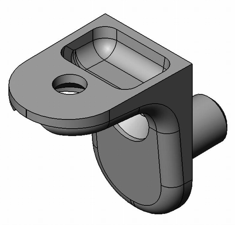 Bodenträger - Zamak - 2 Loch, 1 Zapfen - blank - Bodenträger Zn 1 Zapfen