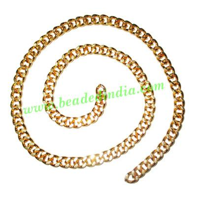 Gold Plated Metal Chain, size: 1.5x5mm, approx 19.9 meters i - Gold Plated Metal Chain, size: 1.5x5mm, approx 19.9 meters in a Kg.