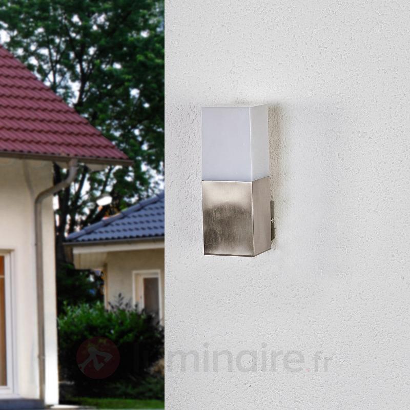 Applique extérieure rectiligne LED Barbara - Appliques d'extérieur inox