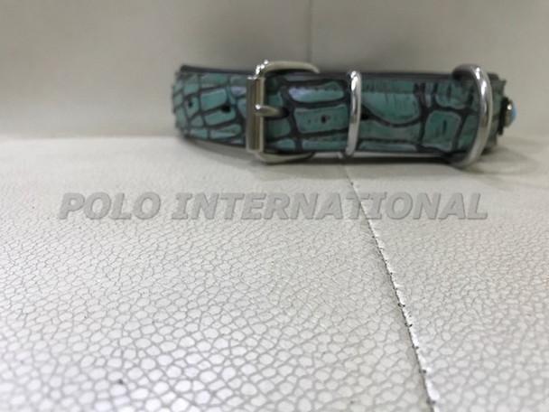 Dog collar - Alligator leather dog collar