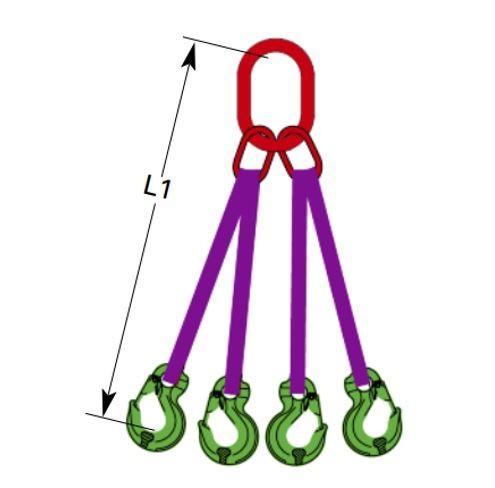 DoColor Bandgehänge, 4-strängig - Hebebandgehänge