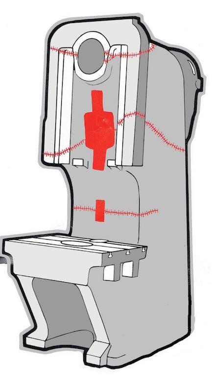 Pressing & forging crack repair