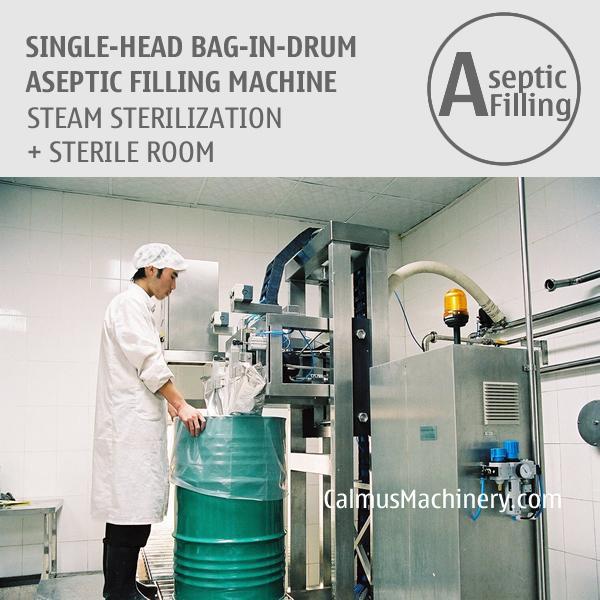 Single-Head 200-220 Litre Bag in Drum Aseptic Filler  - Bulk Bag Aseptic Filling Machine for Juice, Sauce, Puree, Dairy