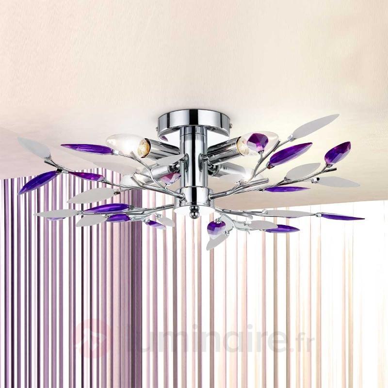 Magnifique Plafonnier GIULIETTA à 4 lampes - Plafonniers chromés/nickel/inox