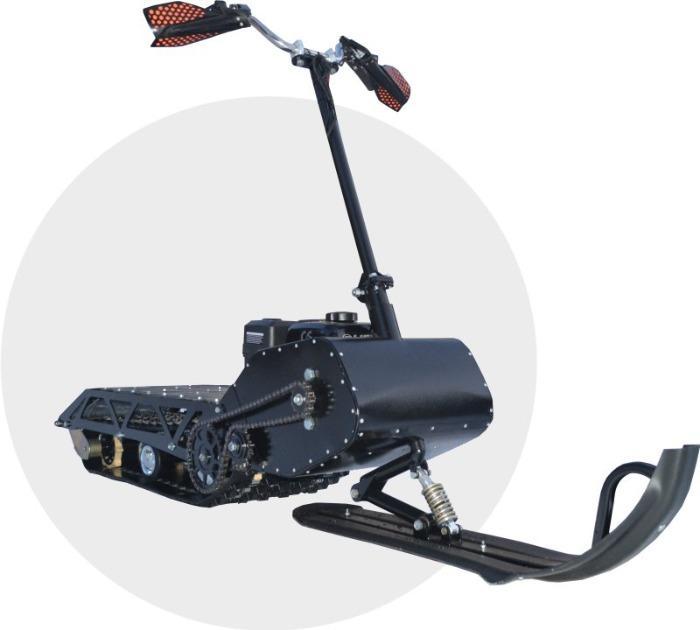 """Motoneige légère et pliable """"Rusak"""". - Motoneige légère pliable """"Rusak"""" avec moteur à essence"""