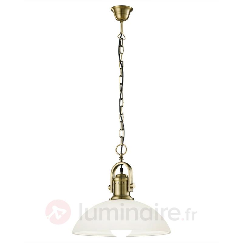 Suspension en verre Montender au style antique - Suspensions en verre