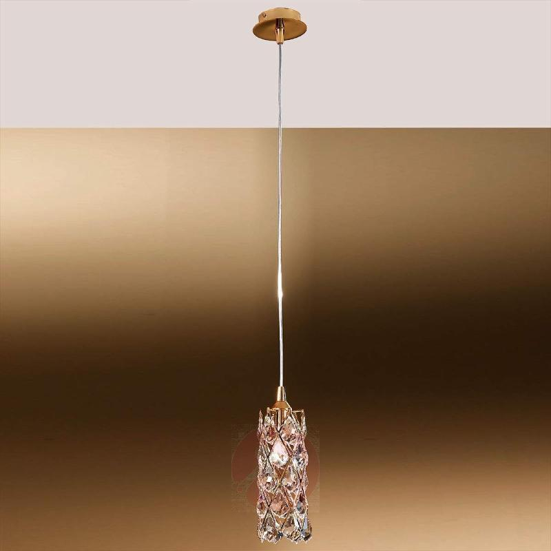 Charlene Hanging Light Gold-Plated with Crystals - Pendant Lighting