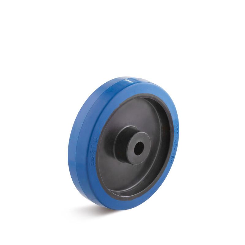 Elastic solid rubber wheels up to 350 kg