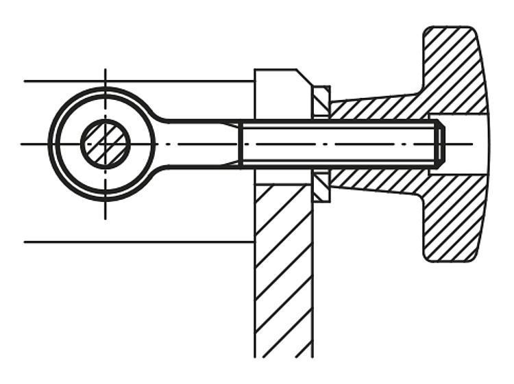 Vis d'articulation DIN 444 Forme B - Éléments de liaison