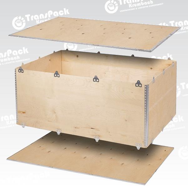 Holzkisten und Exportcontainer