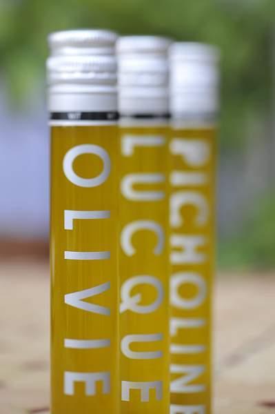 Flacon wit Huile Lucques, Olivière, Picholine 6CL - Produits oléicoles