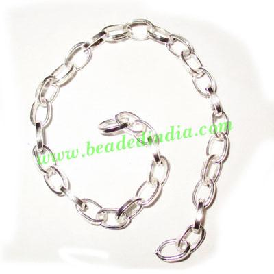 Silver Plated Metal Chain, size: 1x4mm, approx 45.5 meters i - Silver Plated Metal Chain, size: 1x4mm, approx 45.5 meters in a Kg.