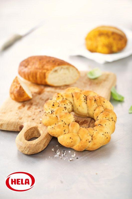 Hela herb bread marinade, spicy - Water-based seasoning marinades for coating bread and pastries.