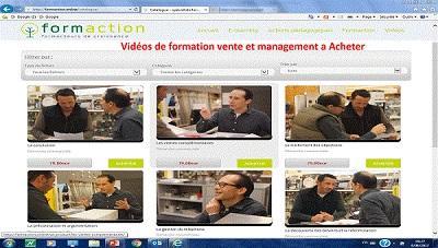 vidéos de formation commerce et management