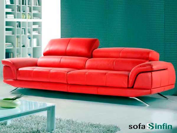 Sofás modernos - Sofá moderno tapizado en piel y tela.