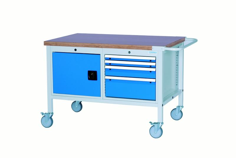 Mobile workbench type 1200 M with 2 cabinets - 04.12.05VA