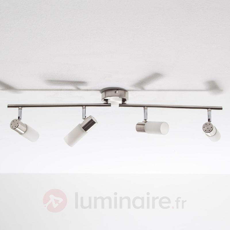Plafonnier oblong LED Tamia à 4 lampes - Plafonniers LED