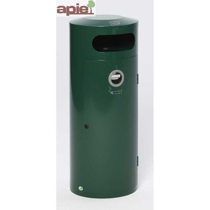 Poubelle 70 L avec cendrier incorporé - Référence : 28432