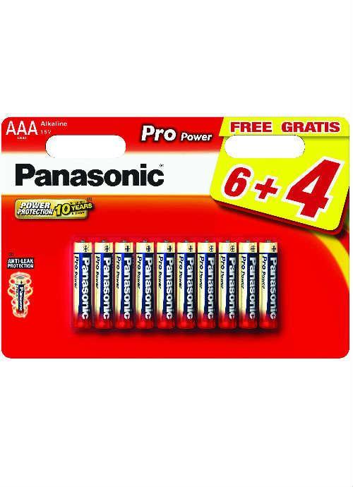Batterie ministilo Pro Power 6+4 pz - LR03PPG/10BW | Blister da 6+4 pile AAA Panasonic